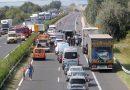 Tömegbaleset és teljes pályás útlezárás az M7-es autópályán Siófoknál