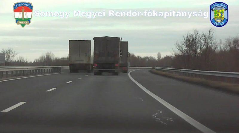 Ellenőrzések az M7-es autópálya somogyi szakaszán