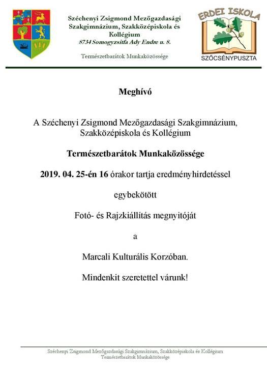Kiállításmegnyitó, eredményhirdetés a Korzóban @ Marcali Kulturális Korzó