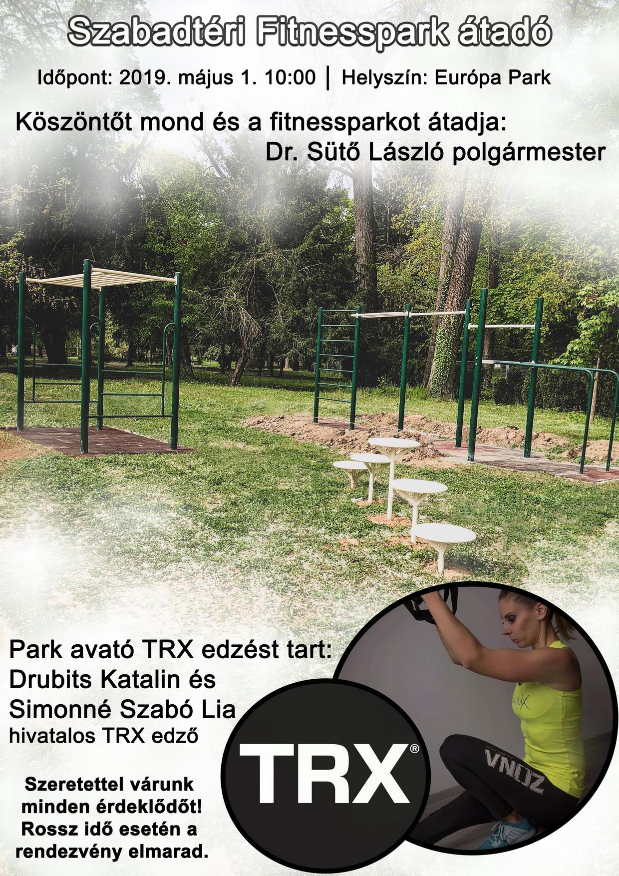 Szabadtéri Fitnesspark átadó