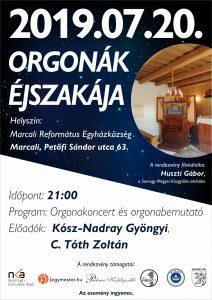 Orgonák éjszakája @ Marcali Református Egyházközség
