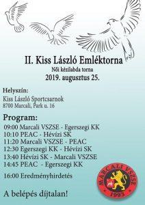 II. Kiss László Emléktorna @ Marcali