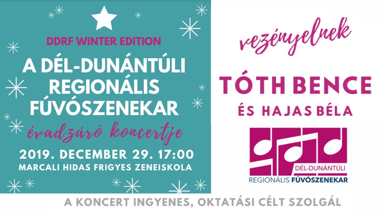 Jazzes, swinges, filmzenés karácsony – DDRF téli koncertje Marcaliban