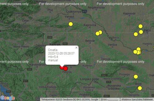 5,4-es erősségű földrengés volt Zágrábtól délre – TaviTV