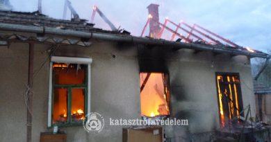 Családi ház vált a tűz martalékává Kisberényben