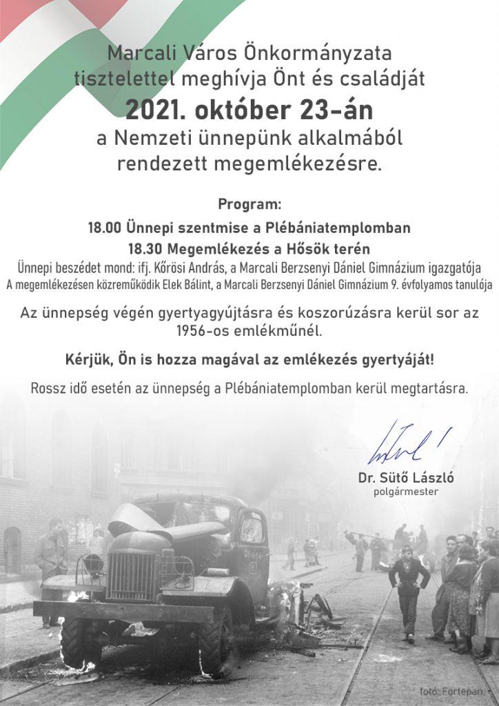 Október 23.  - Ünnepi műsor Marcaliban